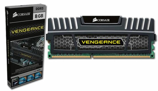 VENGEANCE 8GB (1x8GB) DDR3 Bus 1600Mhz